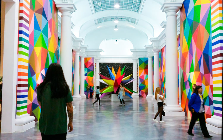 Okuda San Miguel's colourful art